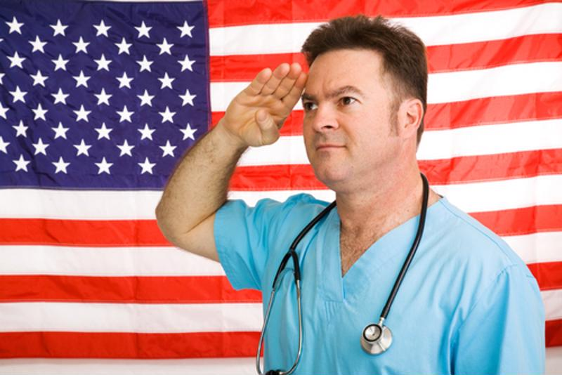 Many military skills transfer easily to a career in the medical field.